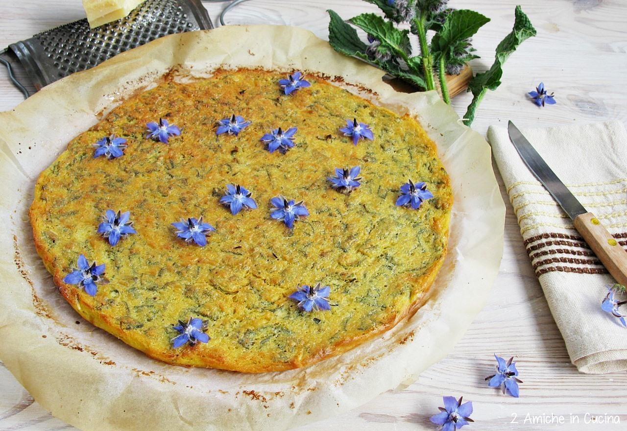 Farinata con Borragine e Parmigiano Reggiano