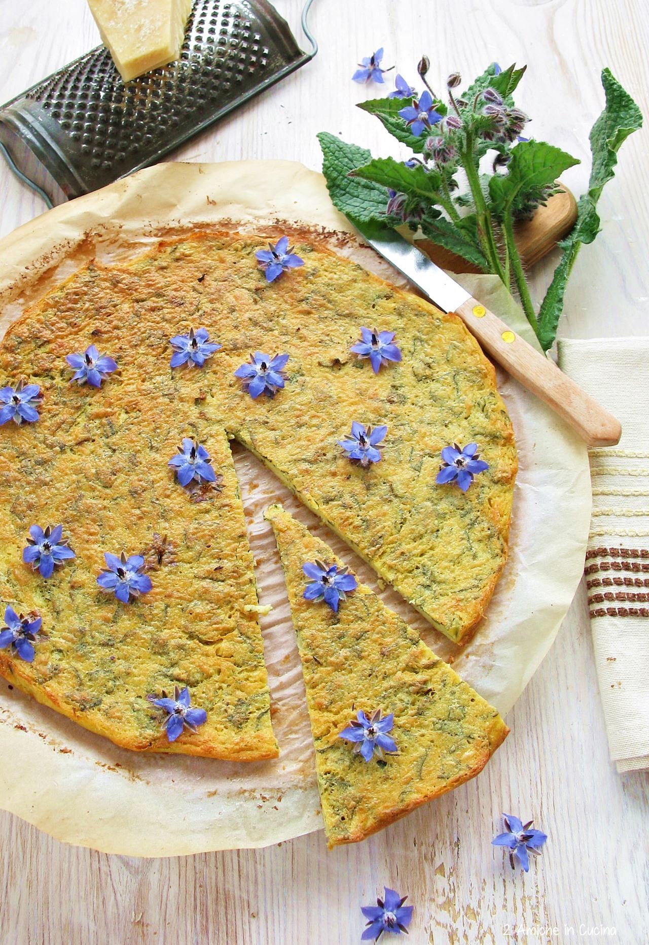 Torta salata con farina di ceci e Parmigiano
