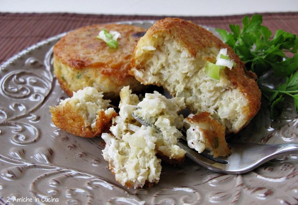 Hamburger di riso e pesce