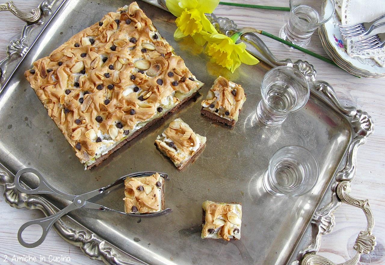 Crostata cioccolato e pere alla grappa e zafferano