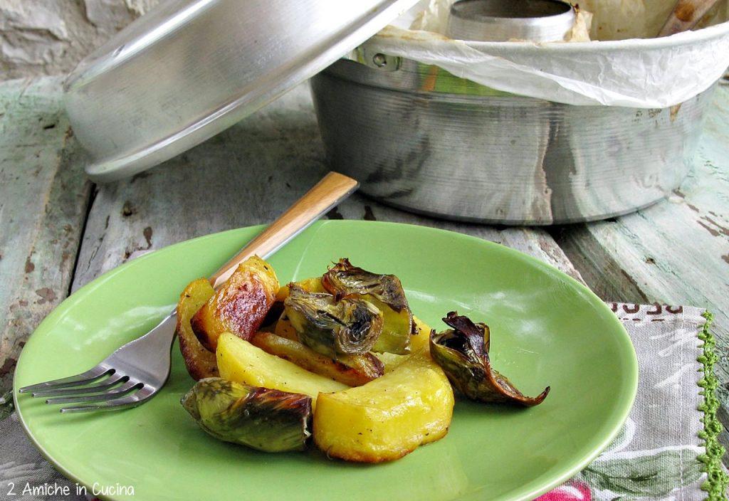 Carciofi e patate nel fornetto Versilia