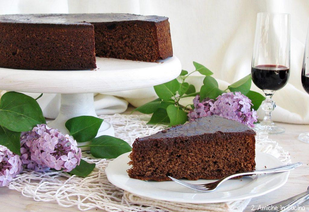 Torta al cioccolato e amarene al Recioto