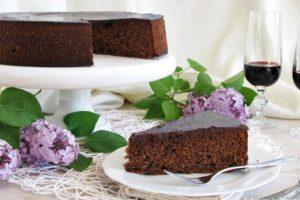 Torta al cioccolato, amarene e Recioto