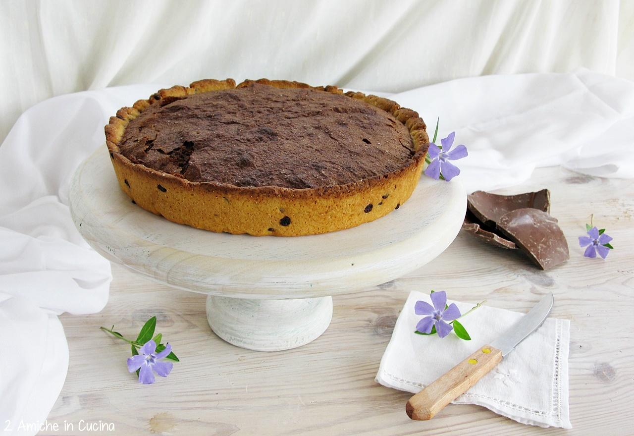 Crostata al cioccolato e nocciole