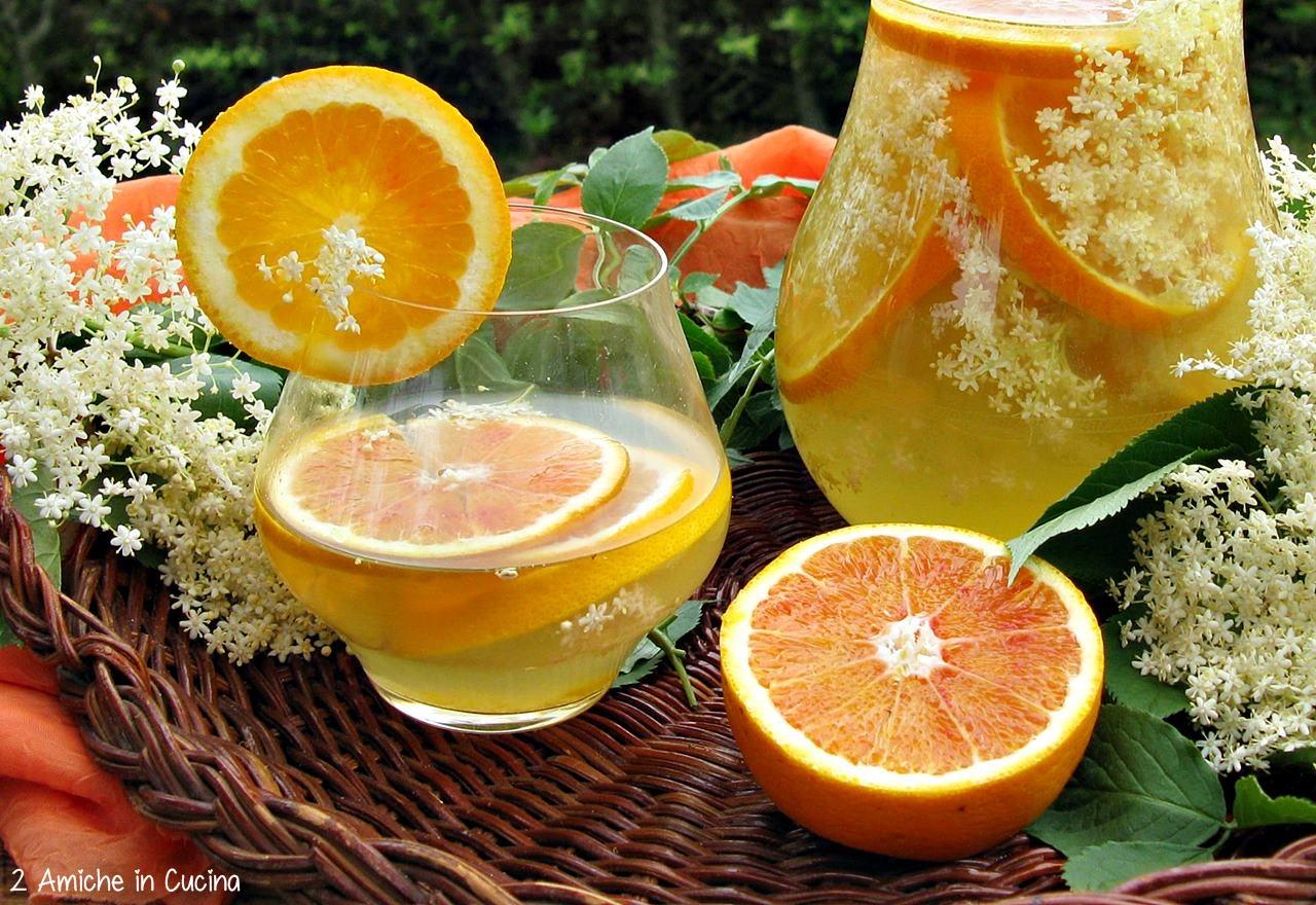 Acqua aromatizzata all'arancia e fiori di sambuco 4