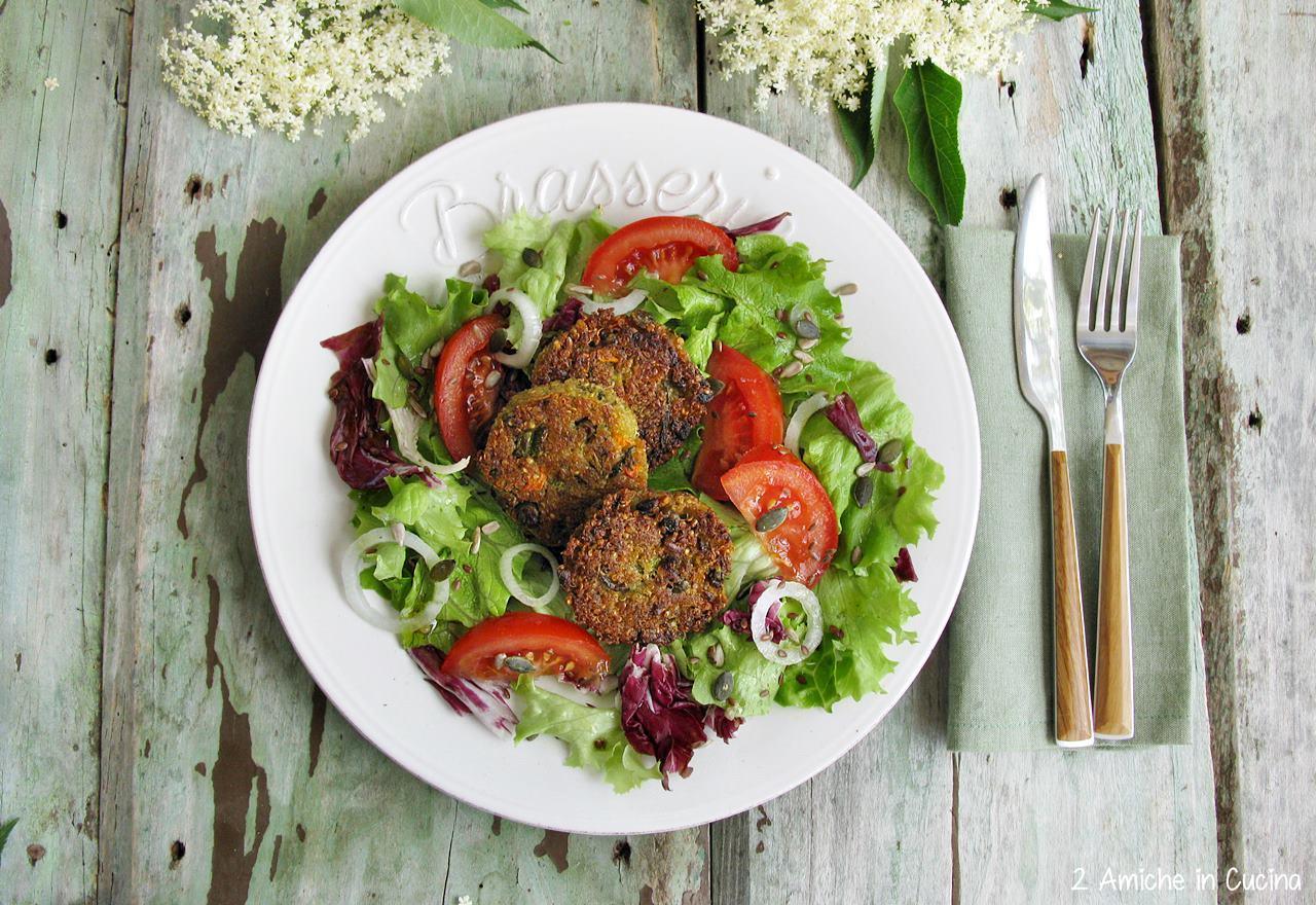 Burger di quinoa e verdure
