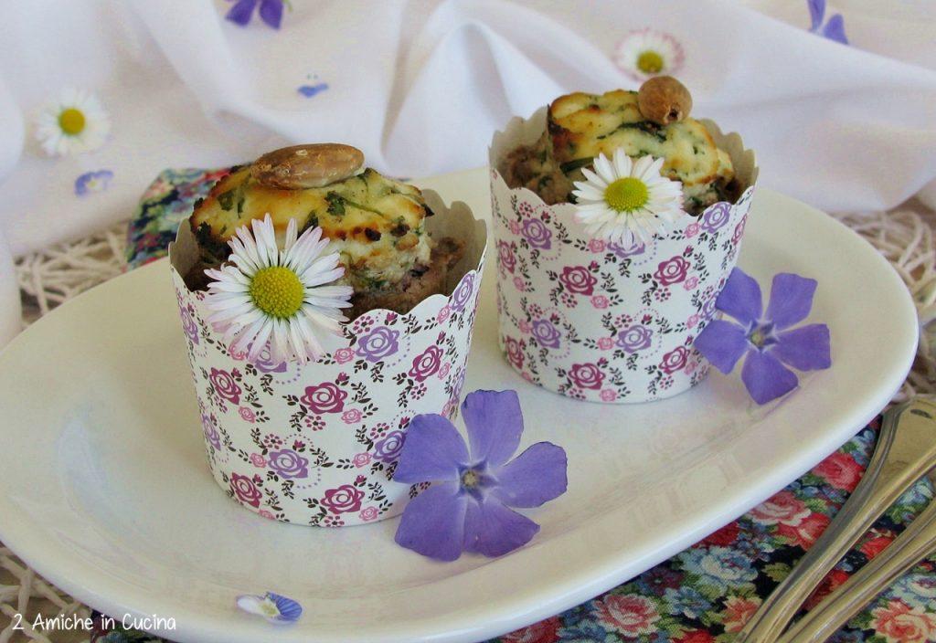Muffin di carne con ricotta ed erbette