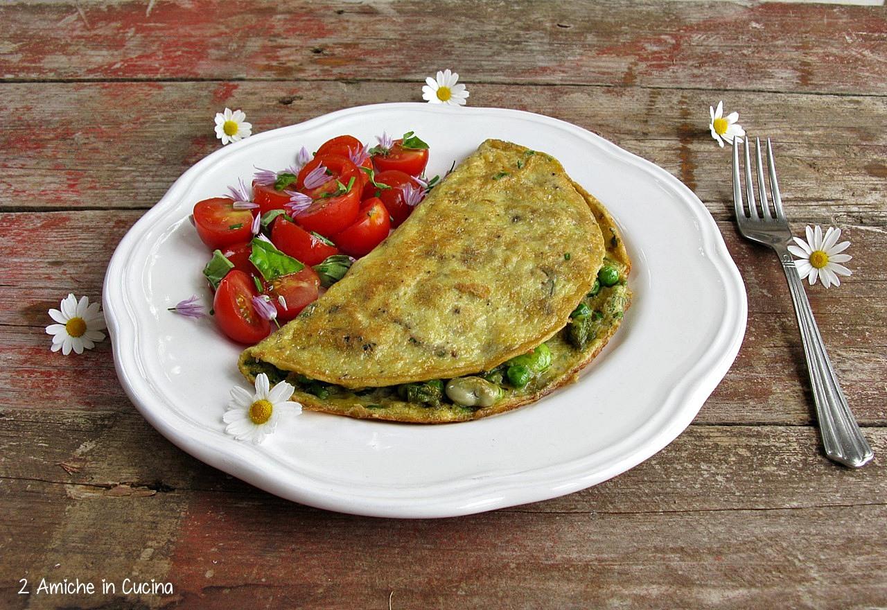 Omelette con verdure e Parmigiano Reggiano  per il #foodrevolutinday di Jamie Oliver