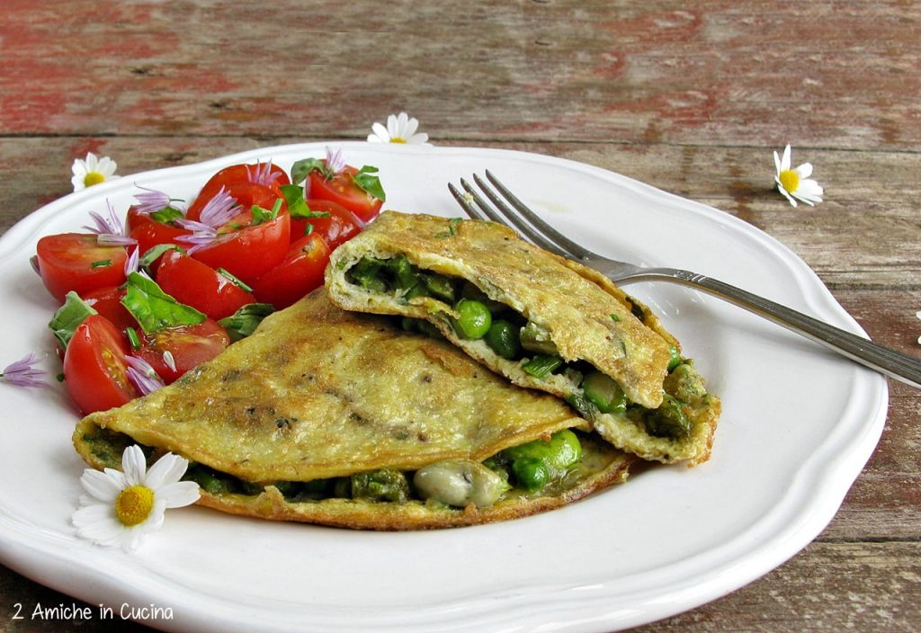 Omelette con verdure e Parmigiano Reggiano per il #foodrevolutionday di Jamie Oliver