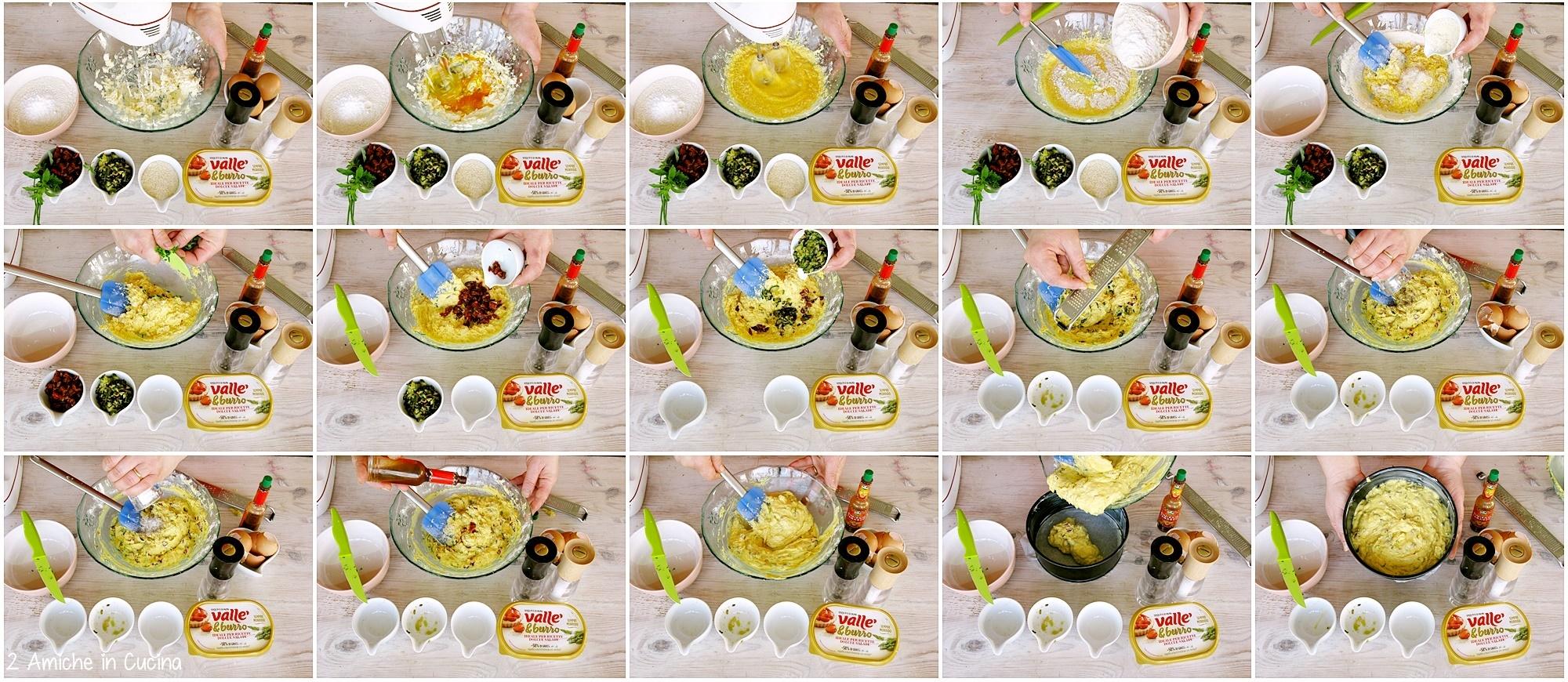 Torta salata con zucchine e pomodori secchi passo passo