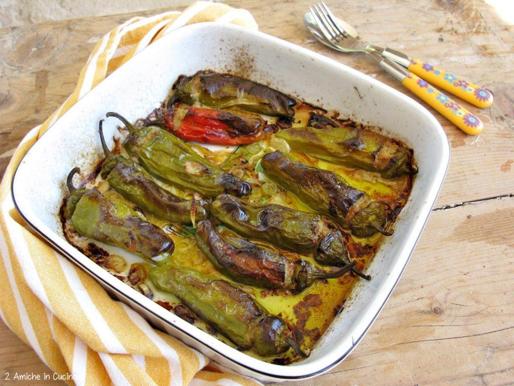 Friggitelli ripieni di carne e patate