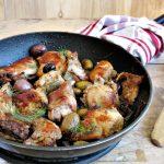 Coniglio alle olive piccanti e finocchietto