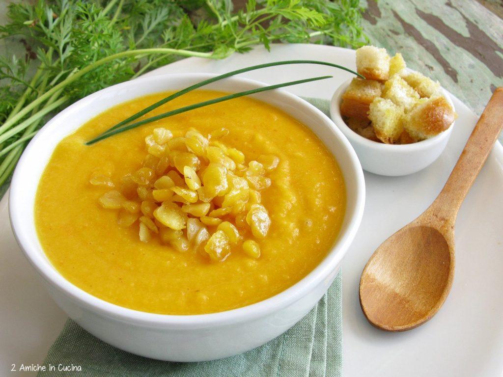 Crema di carote e cicerchie
