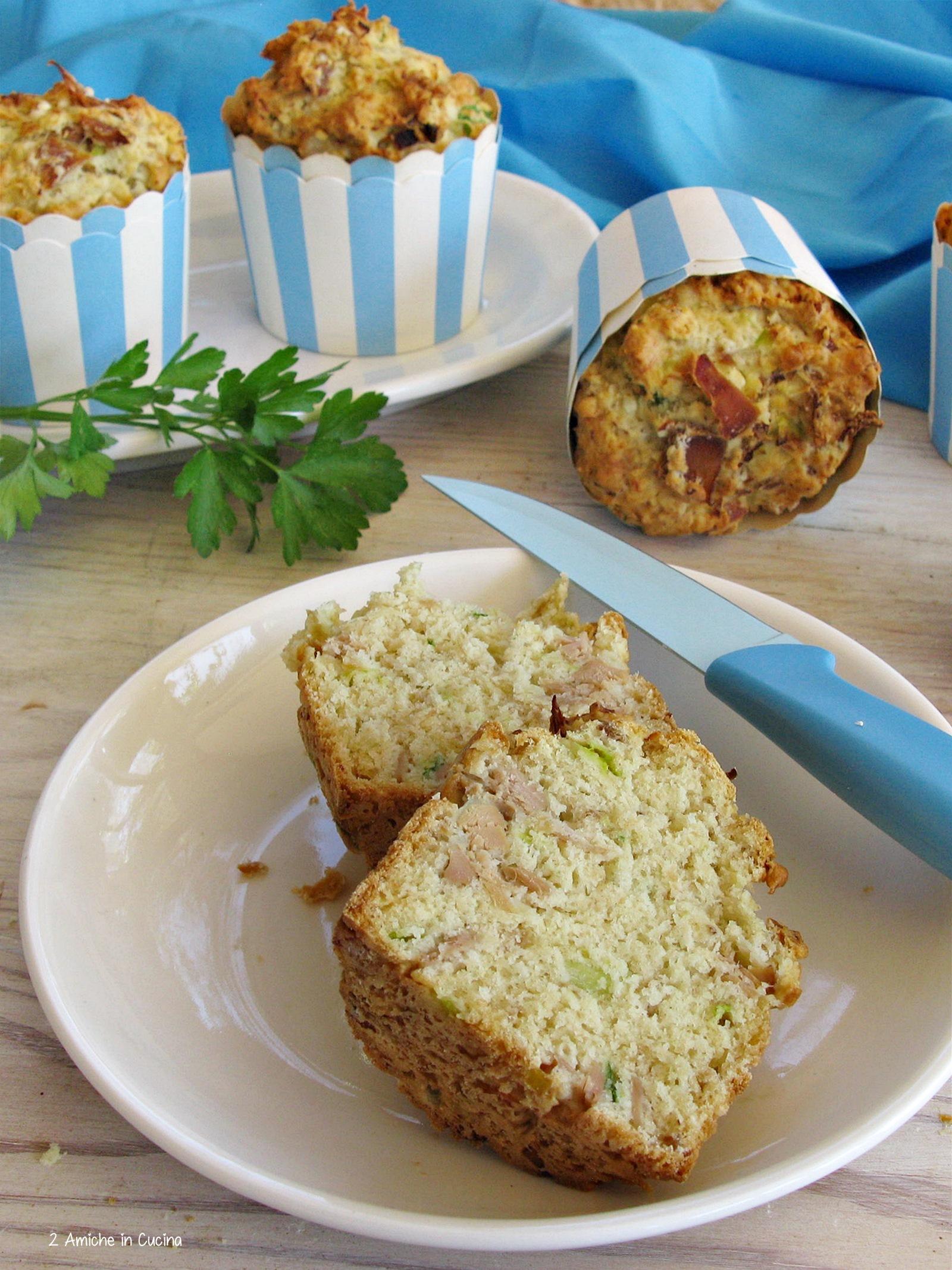 muffin salati al tonno e porri