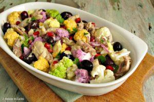 Insalata di cavolfiori, sgombro e olive