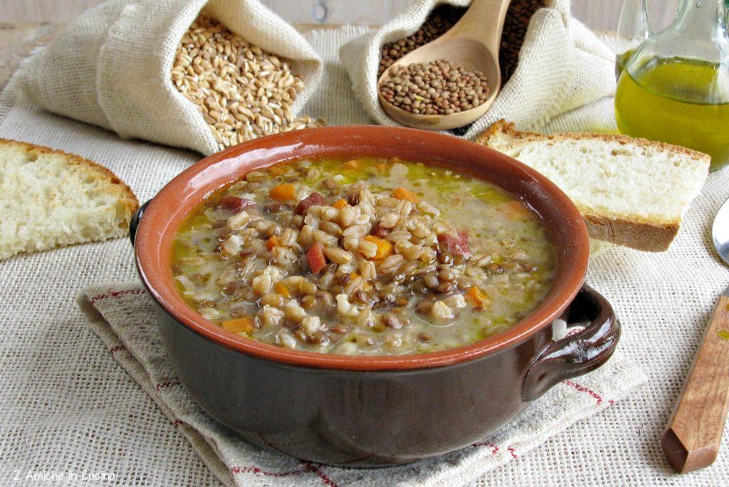 Zuppa di farro e lenticchie IGP di Castelluccio di Norcia