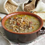 Zuppa di farro e lenticchie IGP di Castelluccio
