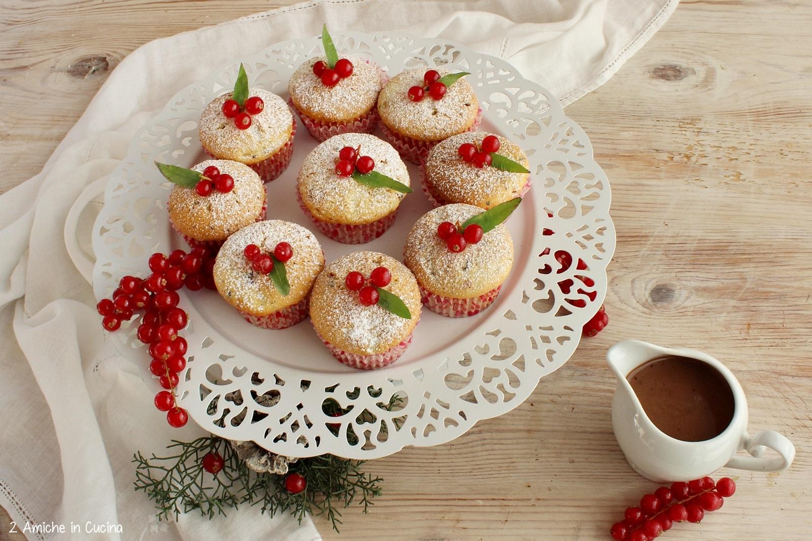 Muffin ai frutti di bosco e zabaione al Porto e cioccolato