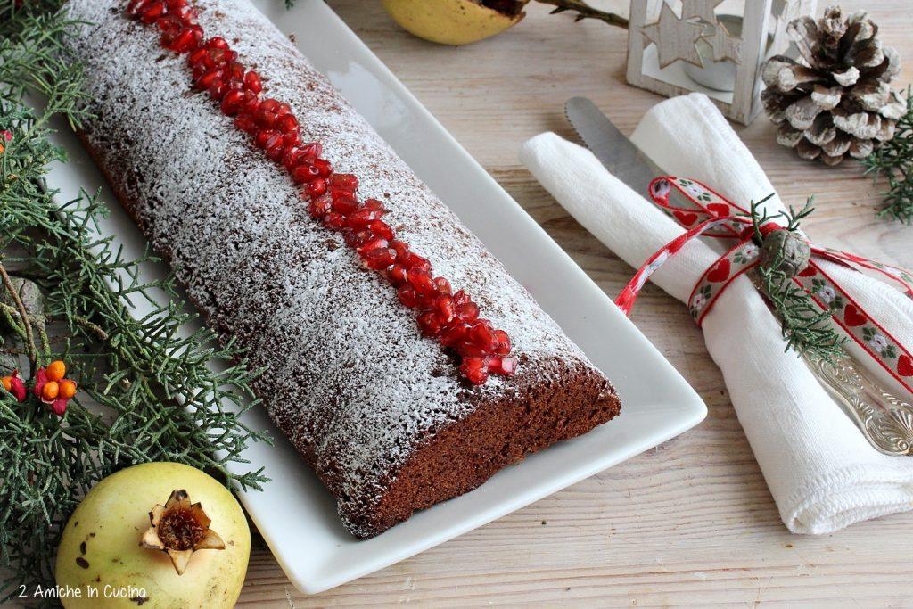 Plumcake al cioccolato, melagrana e zenzero