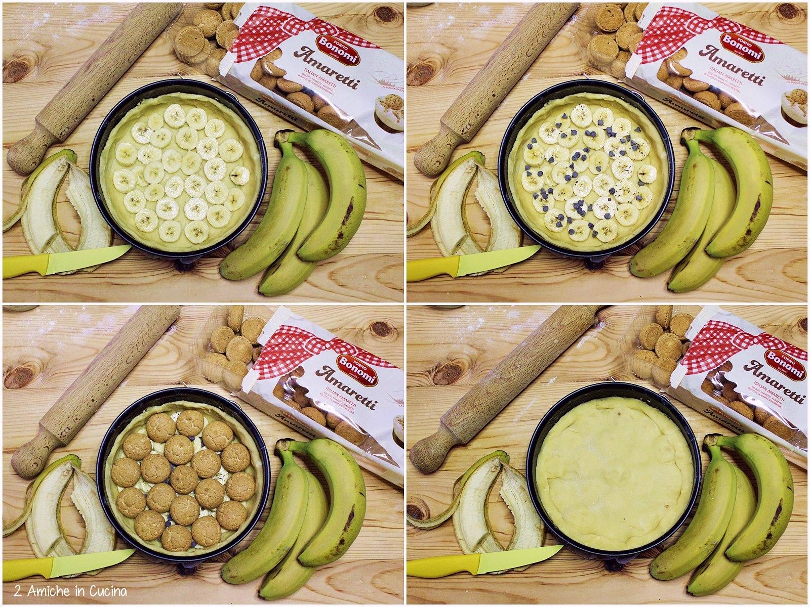 Crostata banane e amaretti