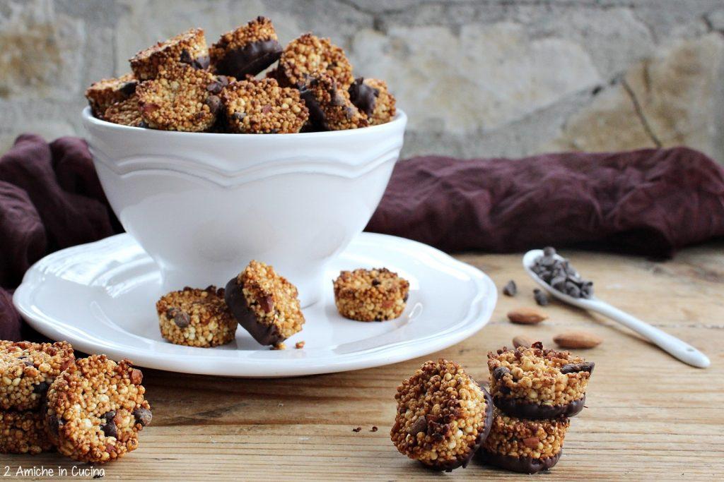 Cookies ai soffiati e cioccolato fondente