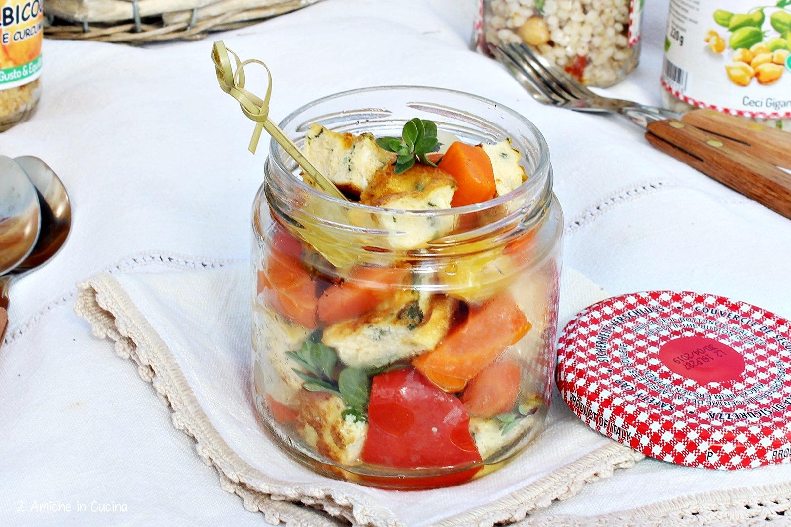 Frittata alle erbette con verdure in agrodolce