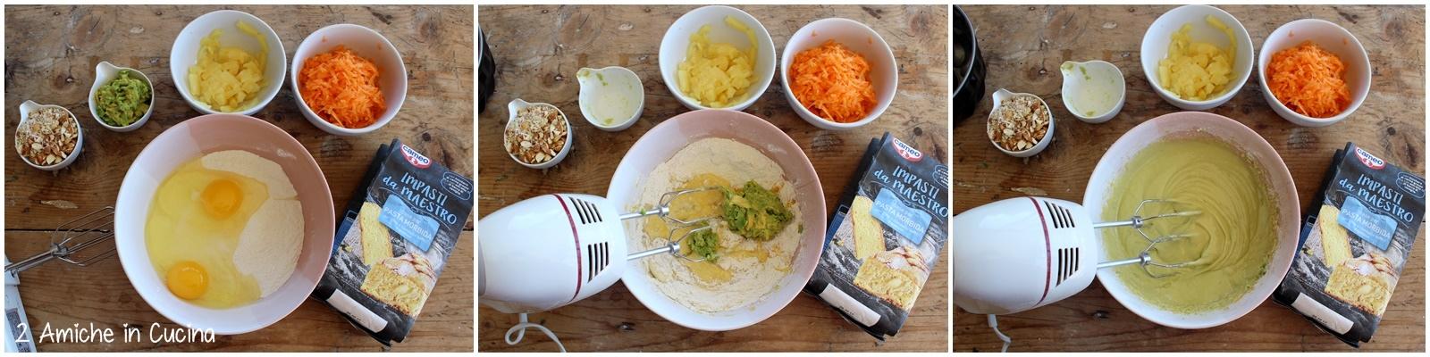 Ciambellone ananas e carote passo passo