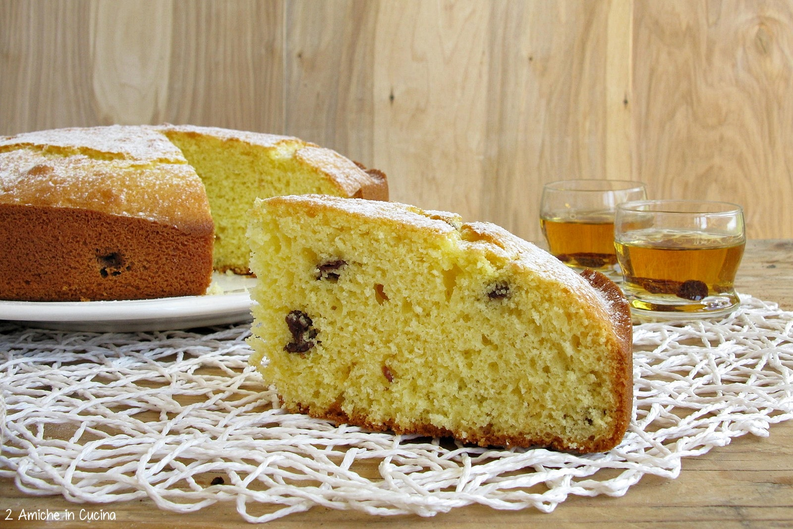 Torta Alla Panna Uvetta E Rum 2 Amiche In Cucina