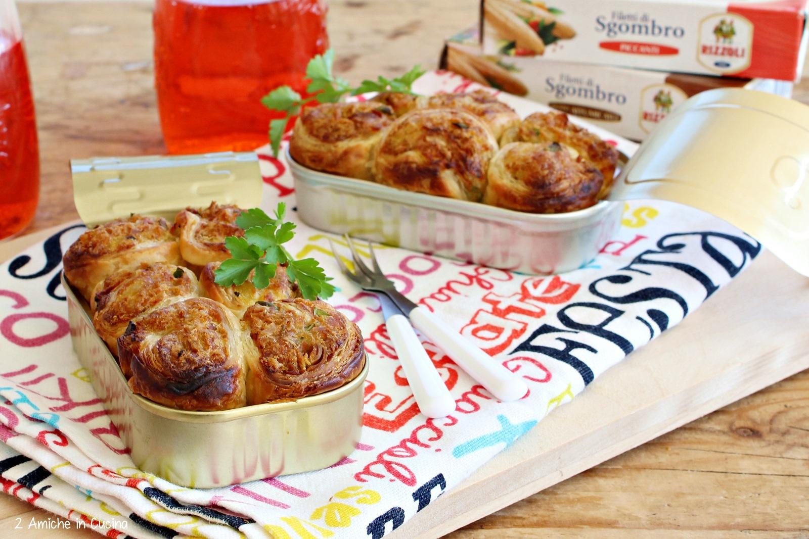 Sgombro e patate in sfoglia