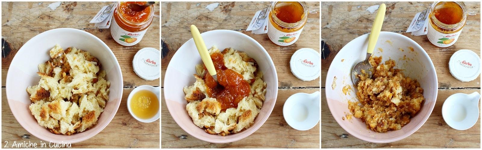 Crostata con confettura di albicocche e colomba passo passo