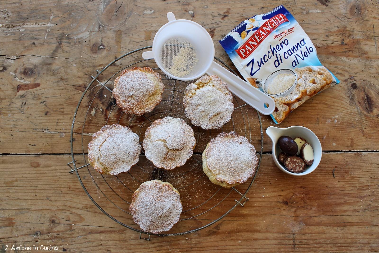 Muffin con ovetti di cioccolato passo passo