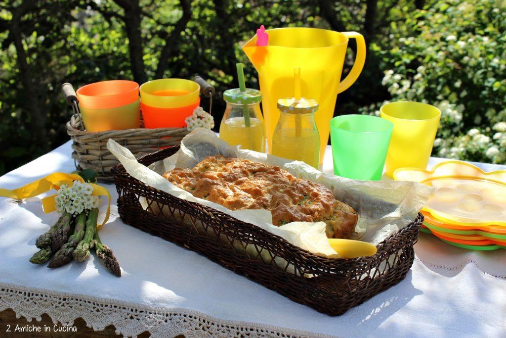 Plumcake salato asparagi, tonno e uova sode