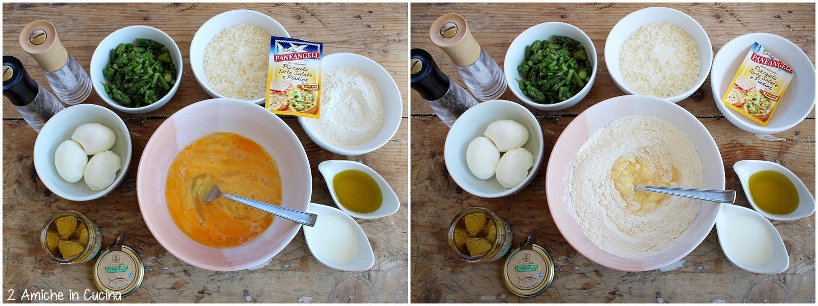 Plumcake salato asparagi, tonno e uova sode passo passo