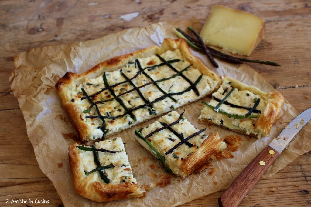 Torta salata asparagi e pecorino toscano DOP