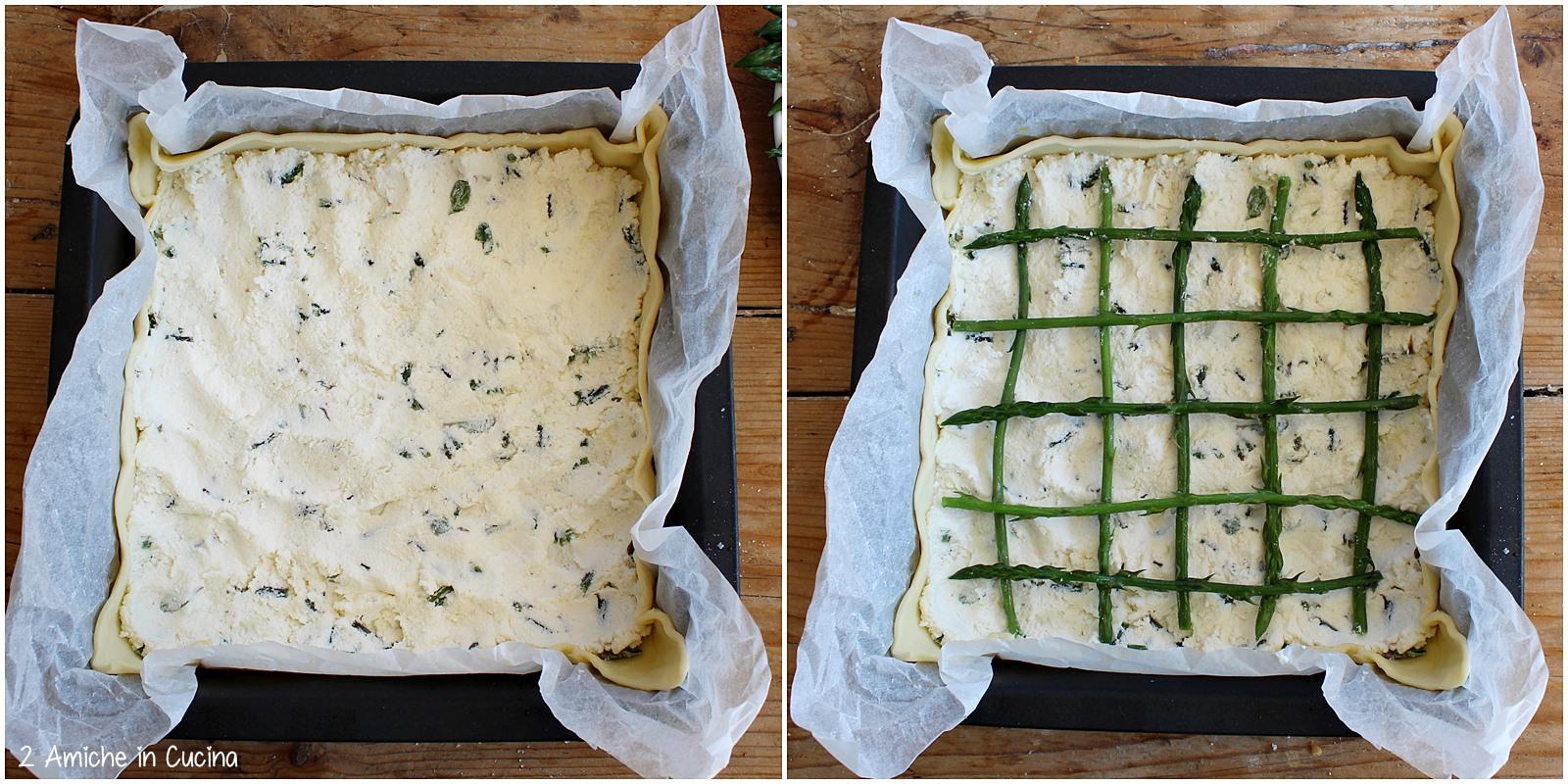 Torta salata asparagi e pecorino toscano passo passo