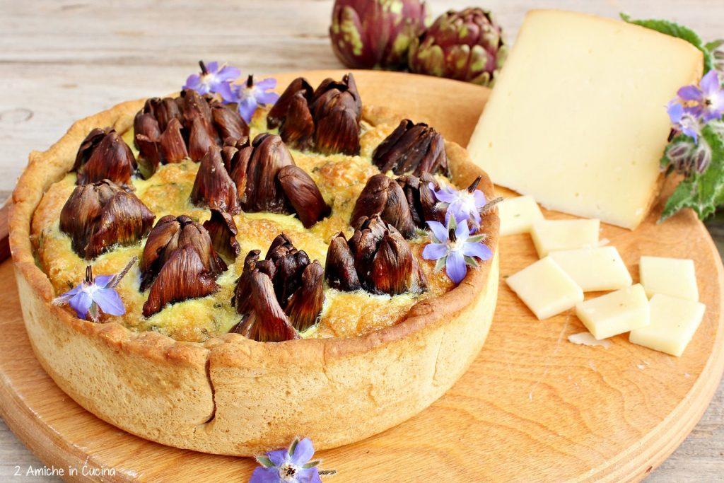 Torta salata carciofi e pecorino