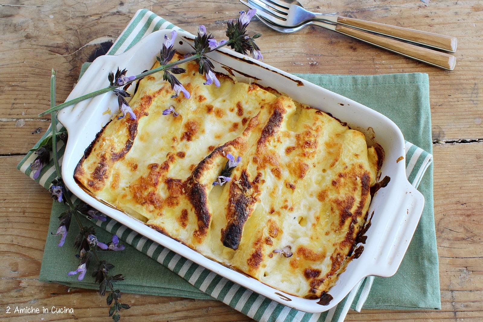 Cannelloni ai formaggi e salvia