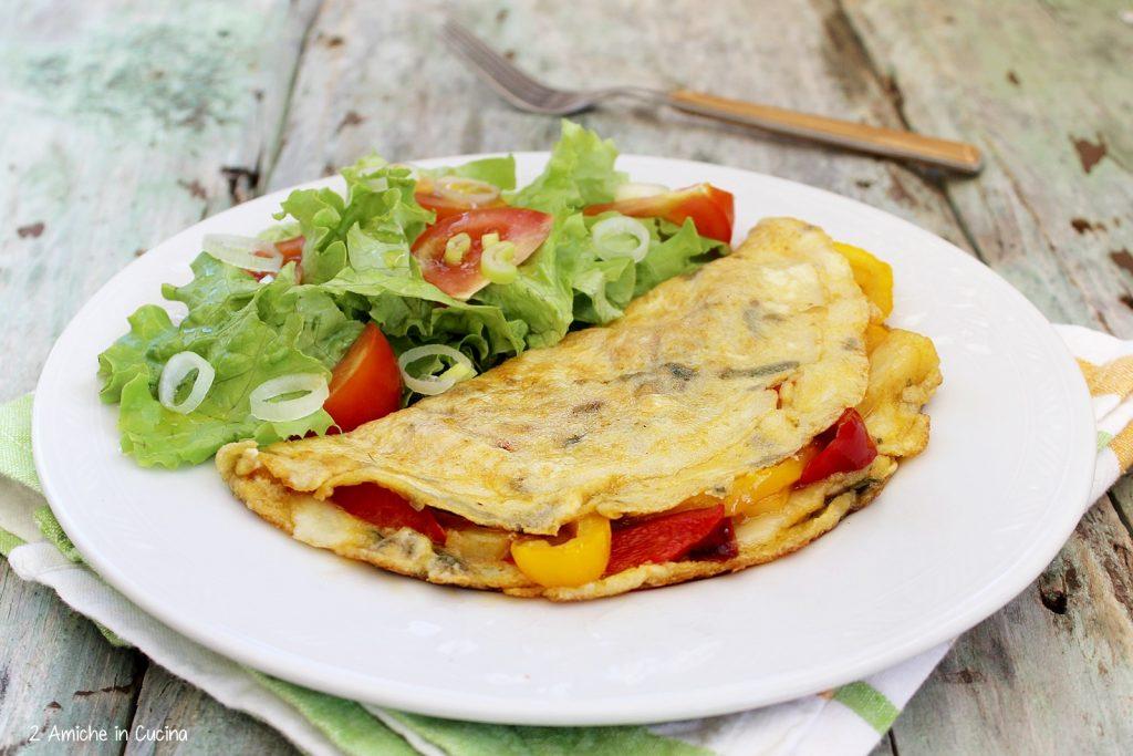Omelette con patate e peperoni al Tabasco