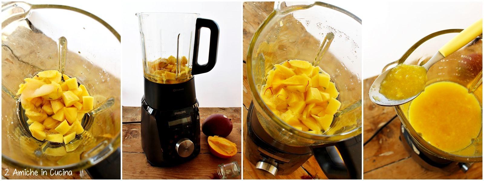 Risolatte alle mandorle con composta di mango e zafferano passo passo