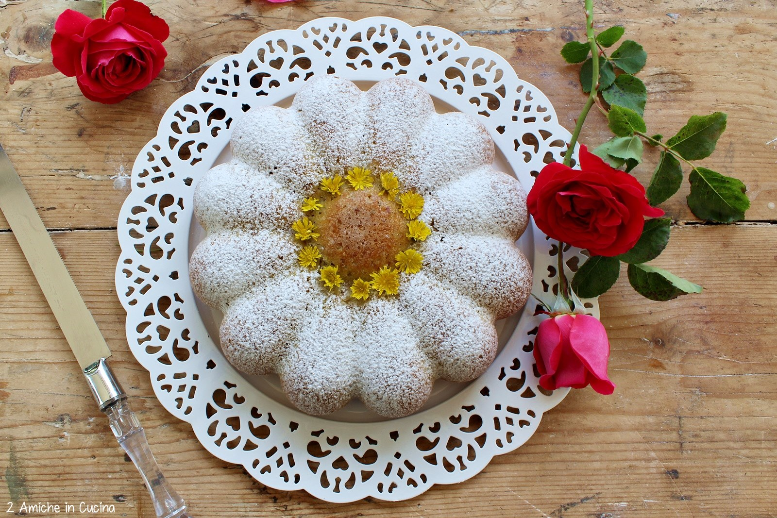 Torta margherita alle rose 1