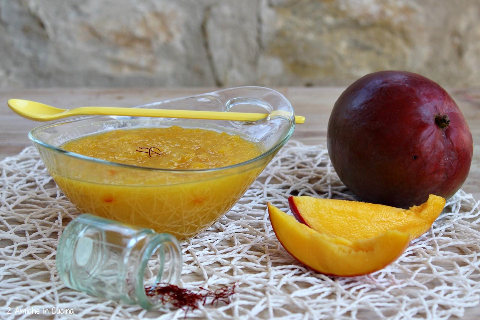 composta di mango e zafferano