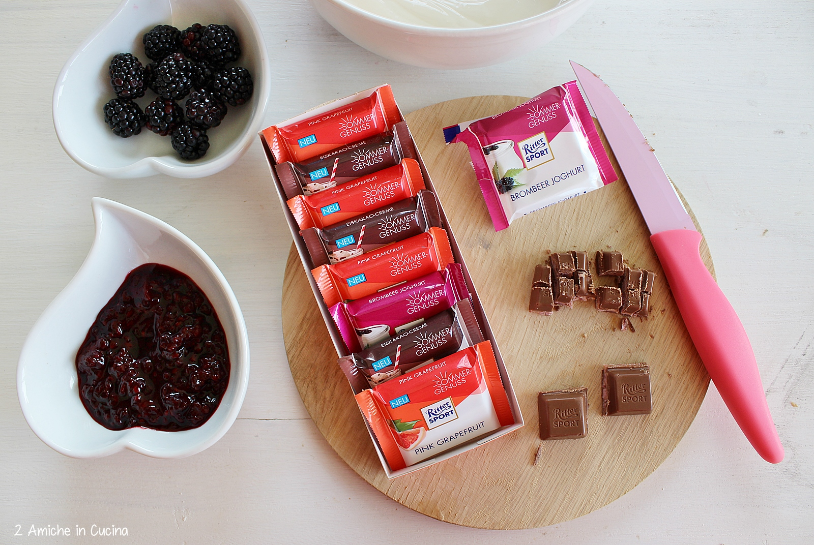 Frozen yogurt alle more e cioccolato passo passo