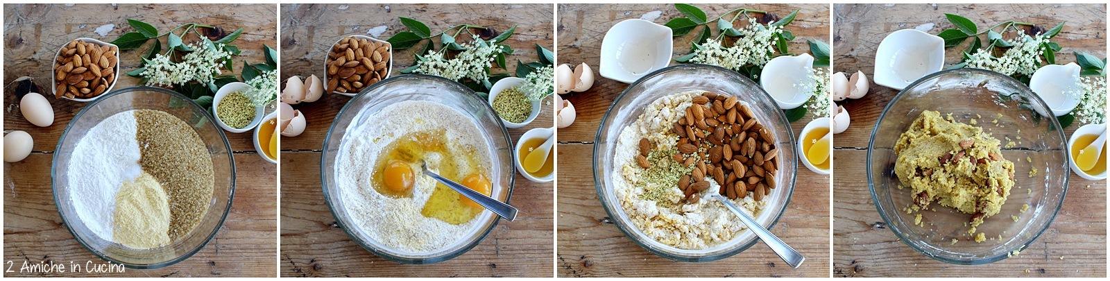 Tozzetti e infuso ai fiori di sambuco passo passo 1