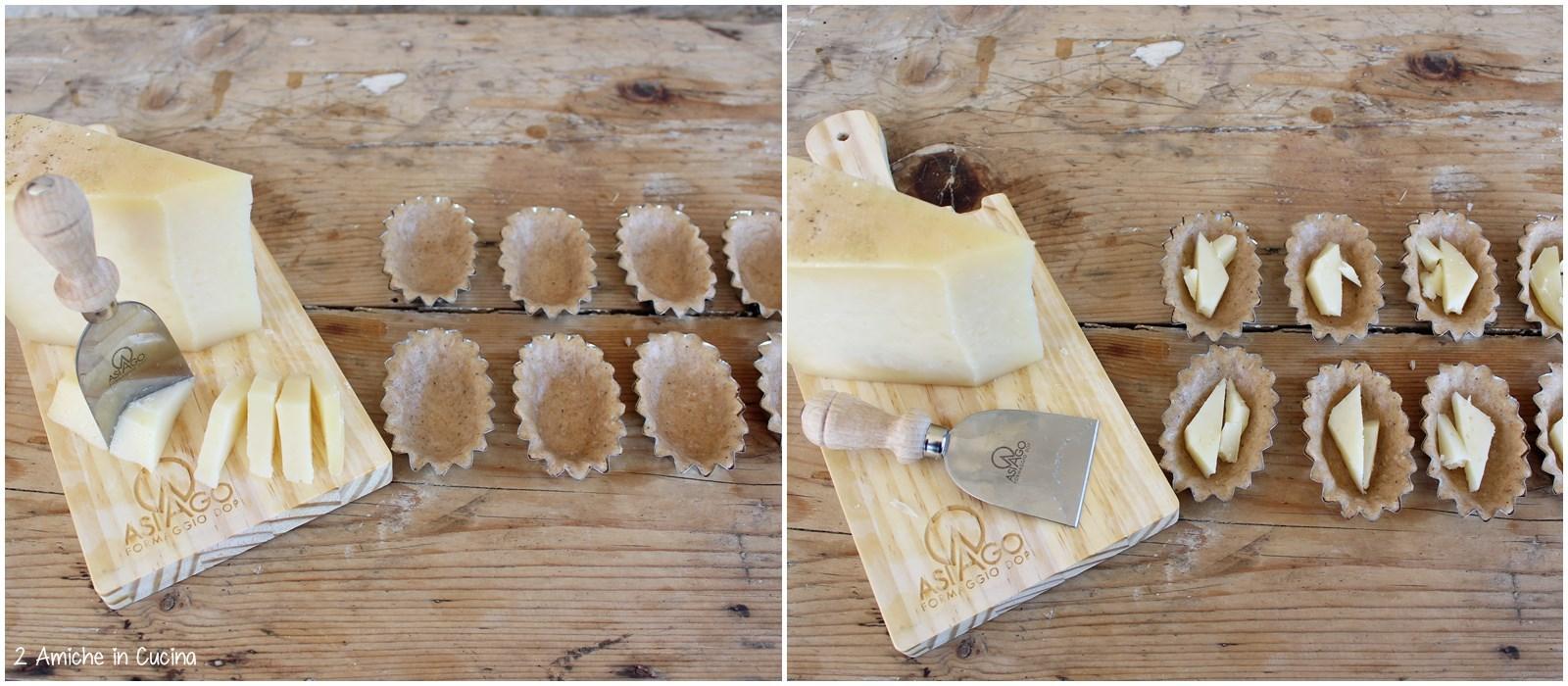 Tartellette di farro con Asiago DOP e gelatina di Sagrantino di Montefalco ai ribes passo passo