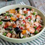 Insalata di riso pesce e verdure