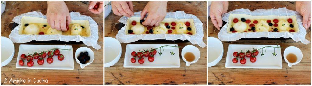 Plumcake salato pomodorini e mozzarella passo passo
