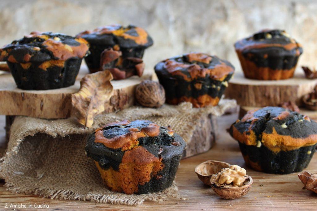 Muffin alle carote e carbone