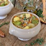 zuppa latina con verdure