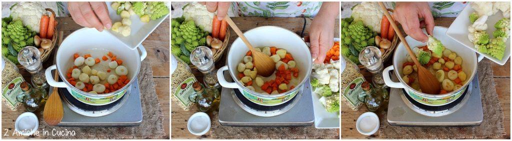 zuppa latina con verdure passo passo