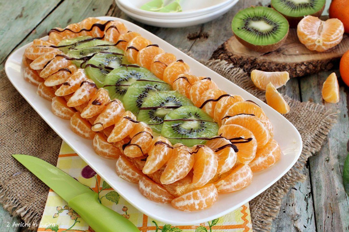 Torta alla frutta kiwi e clementine 1